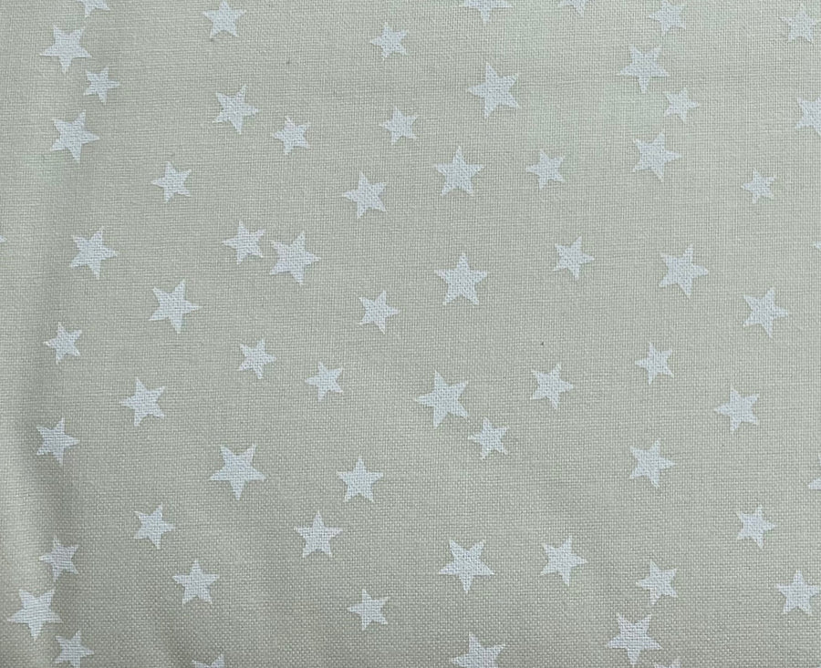 Off White Stars Fabric