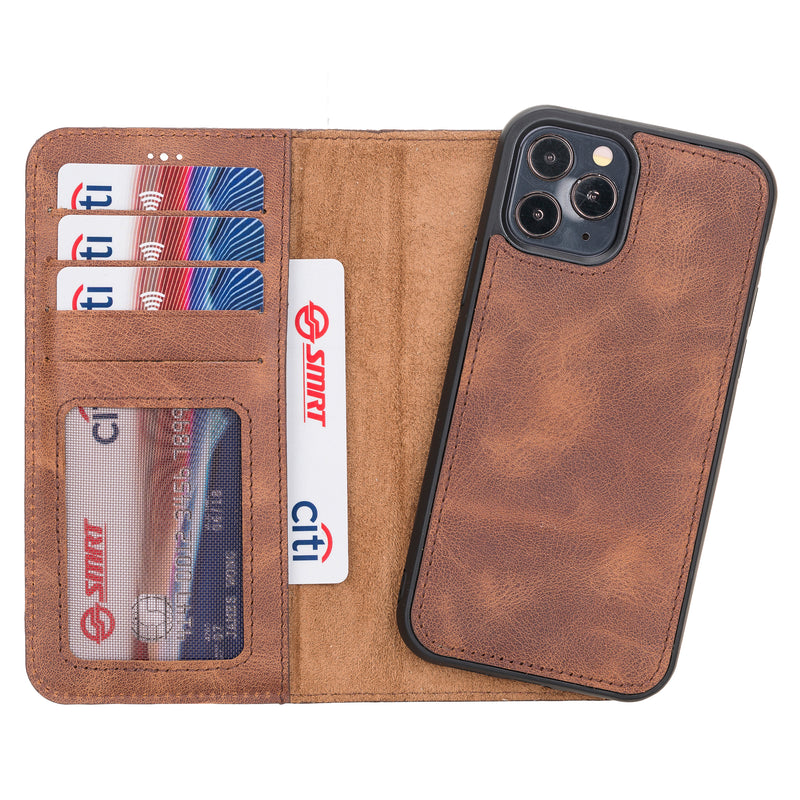 Magnetic Detachable Leather Wallet Case for iPhone 12