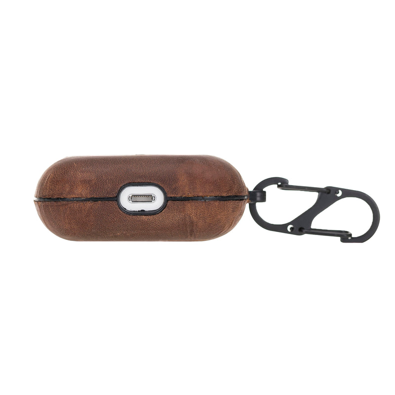 Hard Case with Keychain Clip for Apple AirPods Pro - Antic Brown - Antic Brown