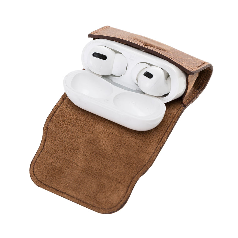 Soft Case with Keychain Clip for Apple AirPods Pro  - Antic Brown