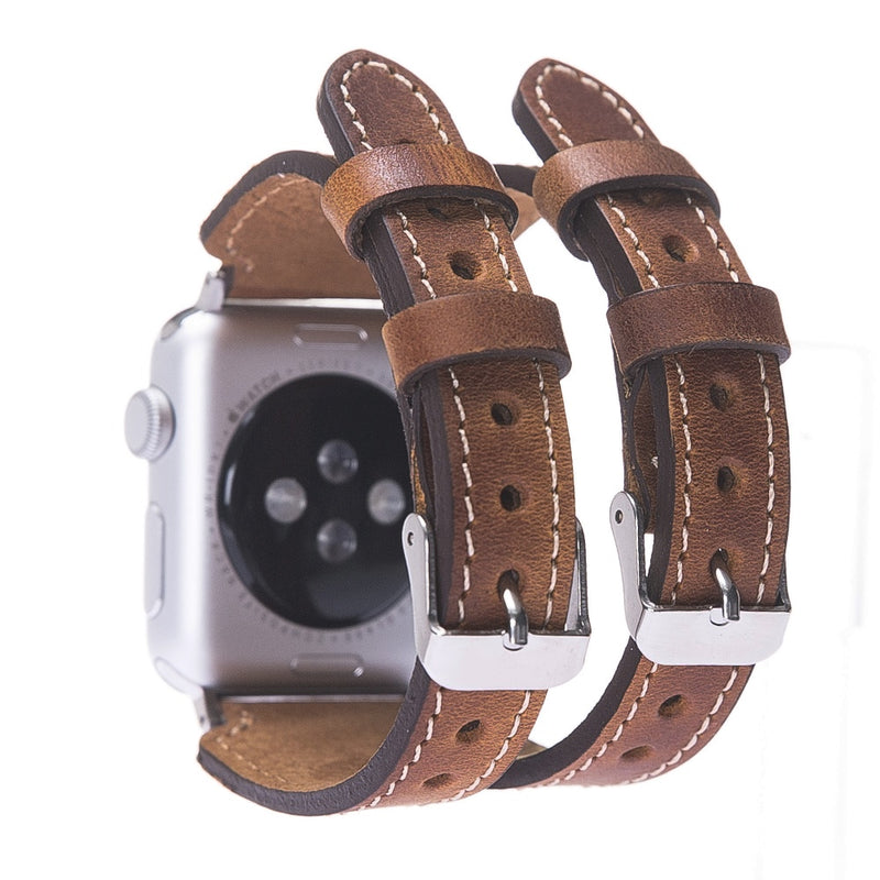 Wings Dual Strap Leather Band for Apple Watch 38 mm / 40 mm 42 mm / 44 mm