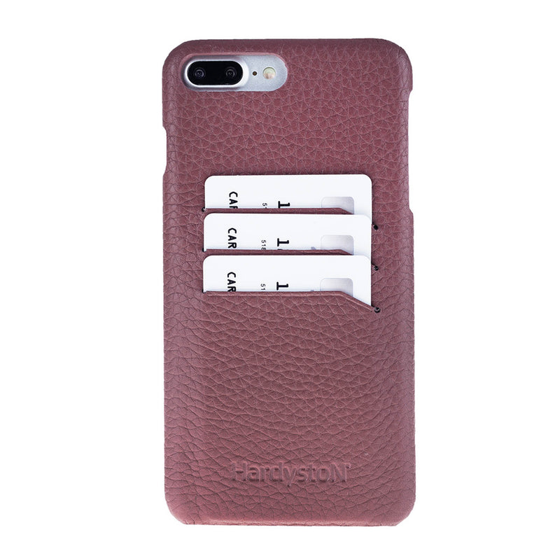 Snap-on Slim Leather Case with Credit Card Slots for Apple iPhone 8 Plus / iPhone 7 Plus