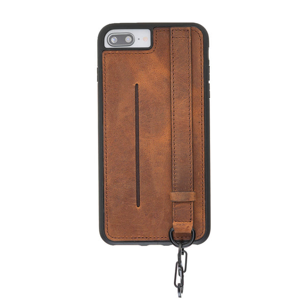 Snap-on Leather Grip Case for Apple iPhone 8 Plus / iPhone 7 Plus