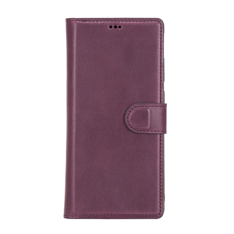 Magnetic Detachable Folio Flip Wallet Cover Case with Card Holders and Kickstand for Samsung Galaxy NOTE 20