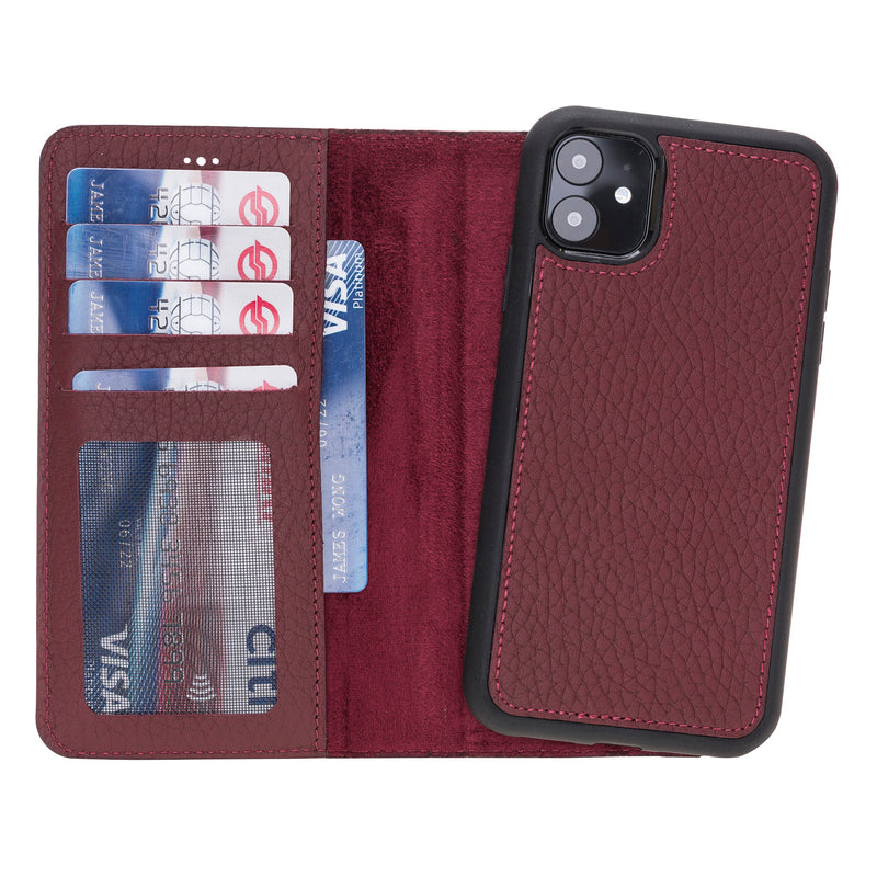 Magnetic Detachable Leather Wallet Case for iPhone 11