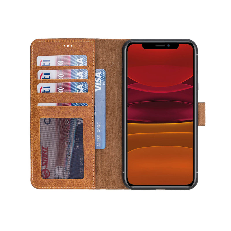 Magnetic Detachable Leather Wallet Case for iPhone 11 Pro Max