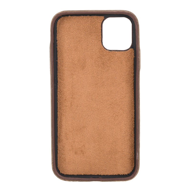 Full Cover Leather Case with Credit Card Slots for Apple iPhone 11