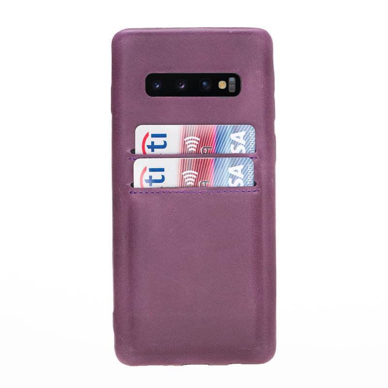 Snap-on Case with Credit Card Slots for Samsung Galaxy S10 Plus
