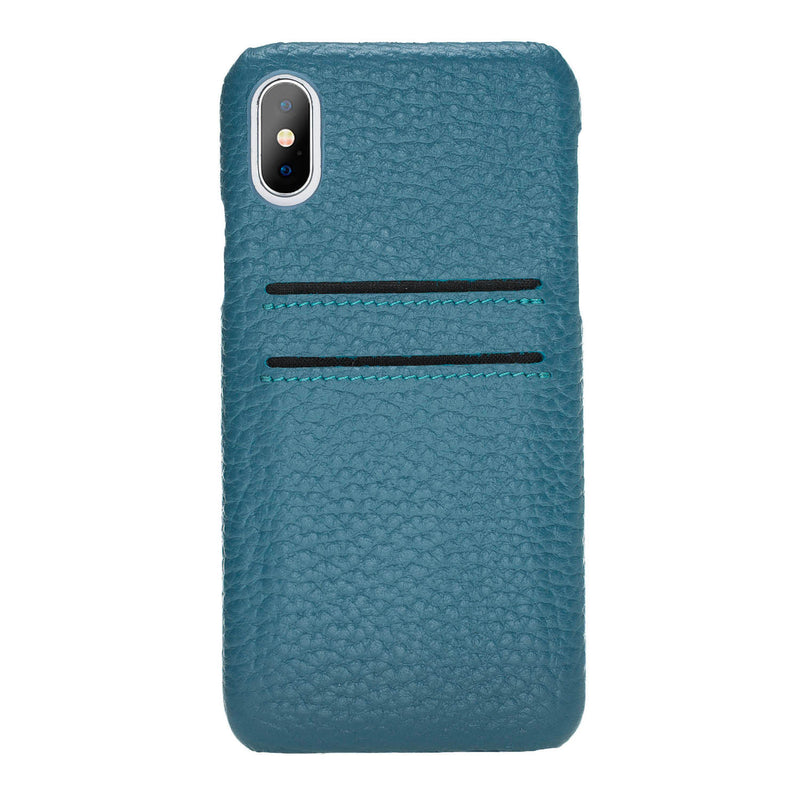Snap-on Leather Case with Credit Card Slots for Apple iPhone Xs Max