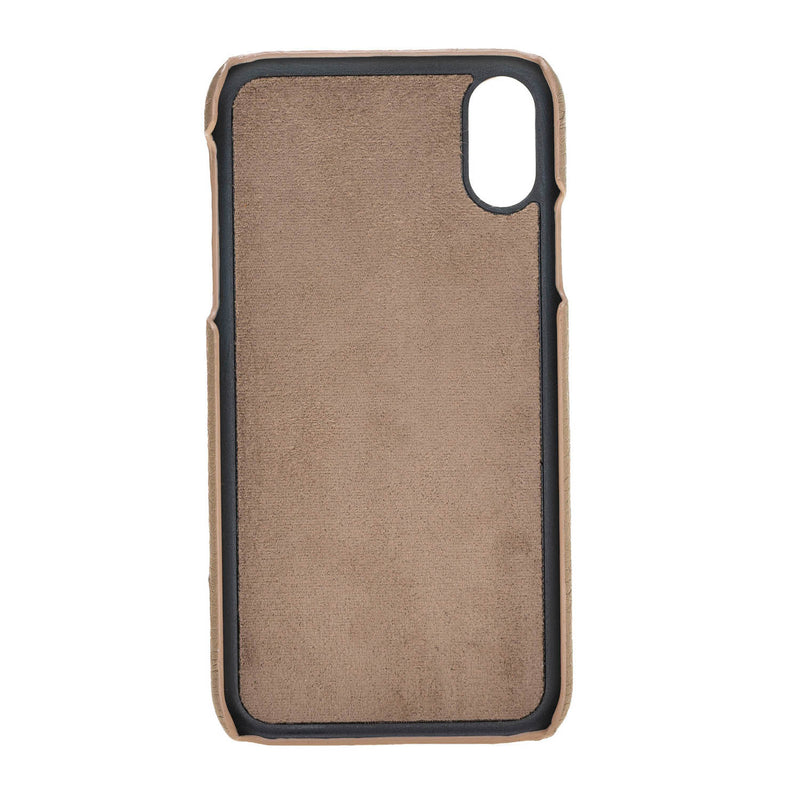 Snap-on Leather Case with Credit Card Slots for Apple iPhone XR
