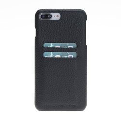 Snap-on Leather Case with Credit Card Slots for Apple iPhone 8 Plus / iPhone 7 Plus