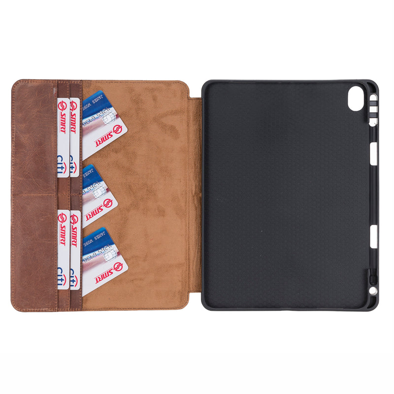 Magnetic Closure Case with Separeted Compartments and Card Slots for Apple iPad Mini 11.0""