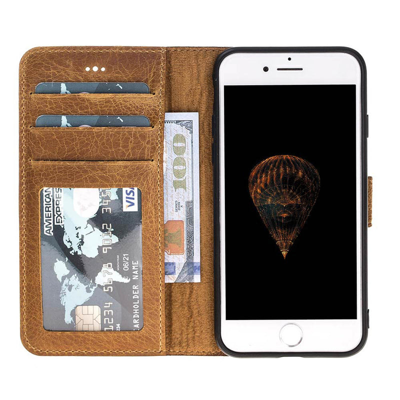 Magnetic Detachable ID Leather Wallet Case for Apple iPhone 8 / iPhone 7
