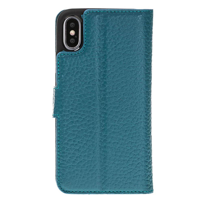 Magnetic Detachable ID Wallet Leather Case for iPhone X / XS