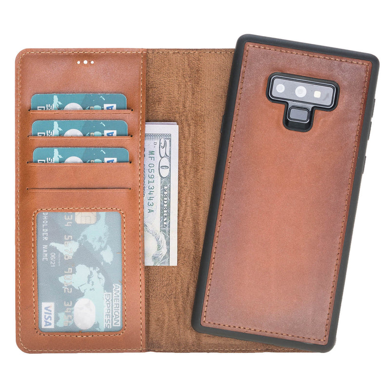Magnetic Detachable ID Leather Wallet Case for Samsung Galaxy Note 9