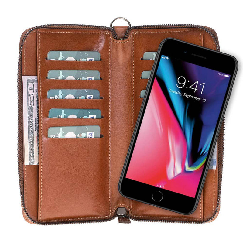 Leather Pouch Wallet Case for Samsung Galaxy S9 Plus