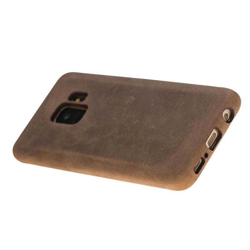 Snap-on Full Cover Leather Case for Samsung Galaxy S9