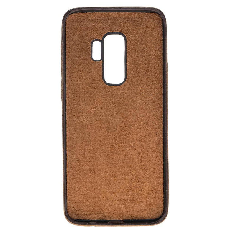 Snap-on Full Cover Leather Case for Samsung Galaxy S9 Plus
