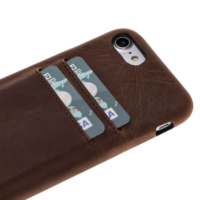Full Cover Leather Case with Credit Card Slots for Apple iPhone 8 / iPhone 7