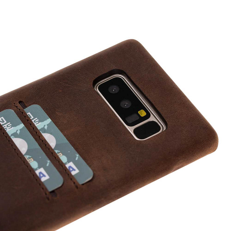 Snap-on Full Cover Leather Case with Credit Card Slots for Samsung Note 22