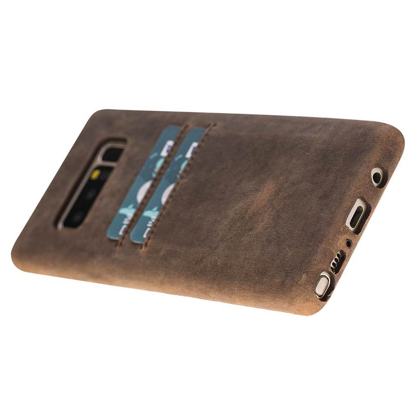 Snap-on Full Cover Leather Case with Credit Card Slots for Samsung Note 27