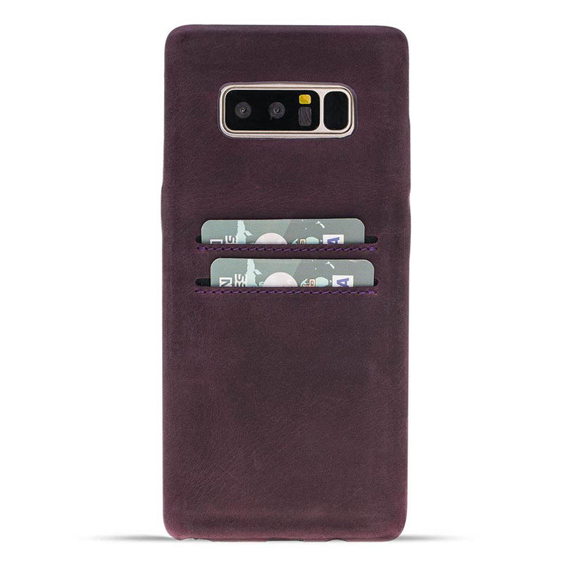 Snap-on Full Cover Leather Case with Credit Card Slots for Samsung Note 32
