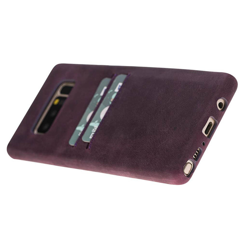 Snap-on Full Cover Leather Case with Credit Card Slots for Samsung Note 35