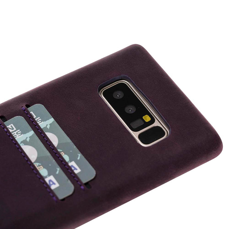 Snap-on Full Cover Leather Case with Credit Card Slots for Samsung Note 38