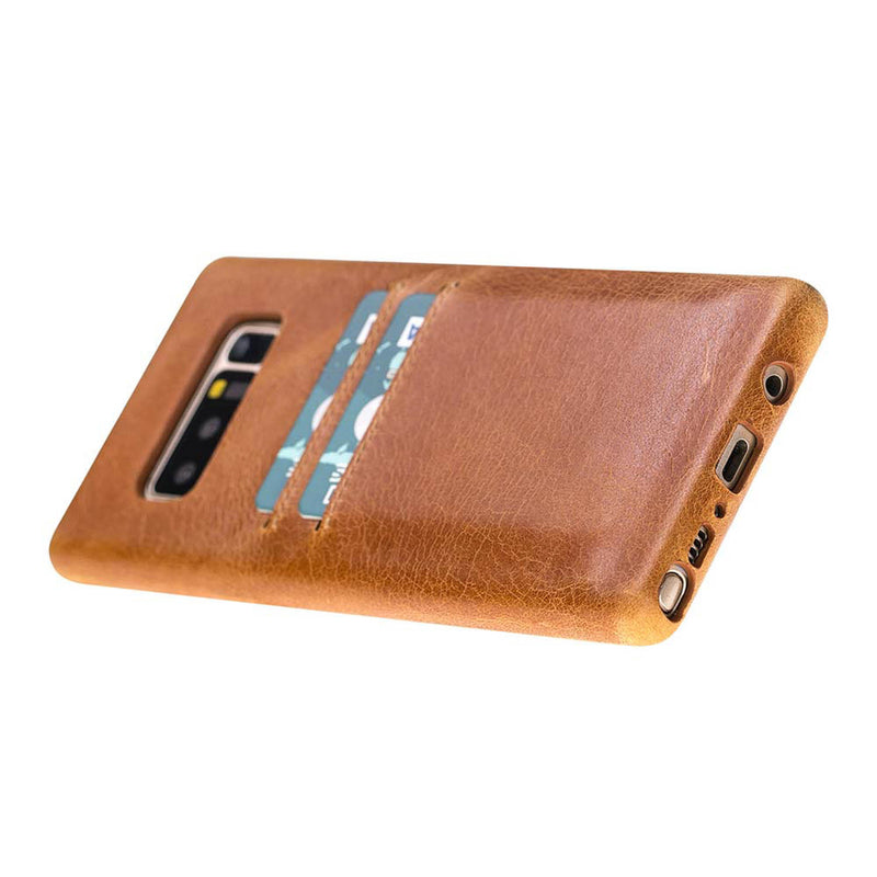Snap-on Full Cover Leather Case with Credit Card Slots for Samsung Note 11