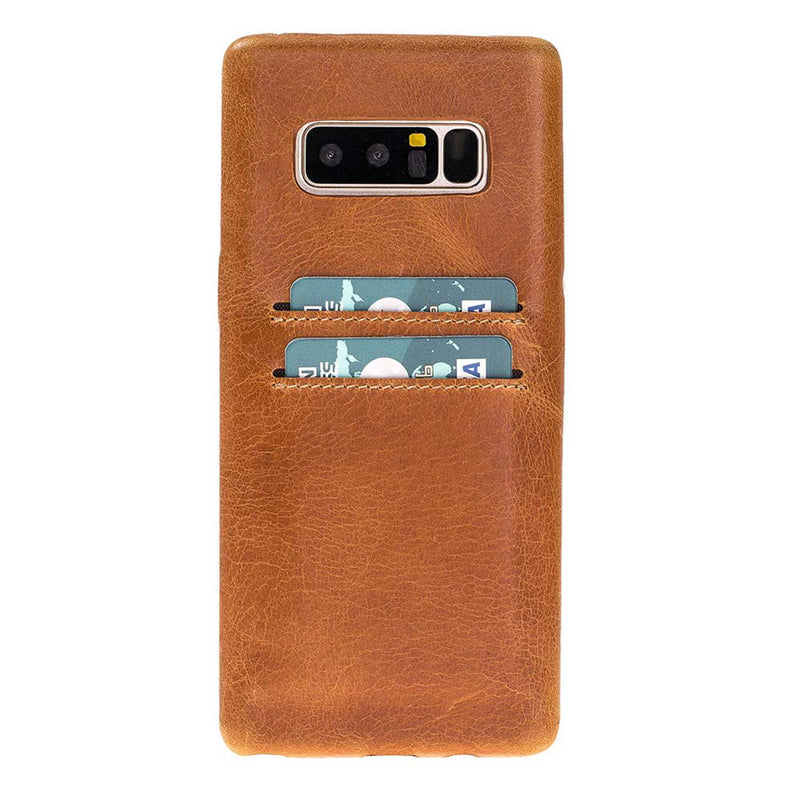Snap-on Full Cover Leather Case with Credit Card Slots for Samsung Note 14
