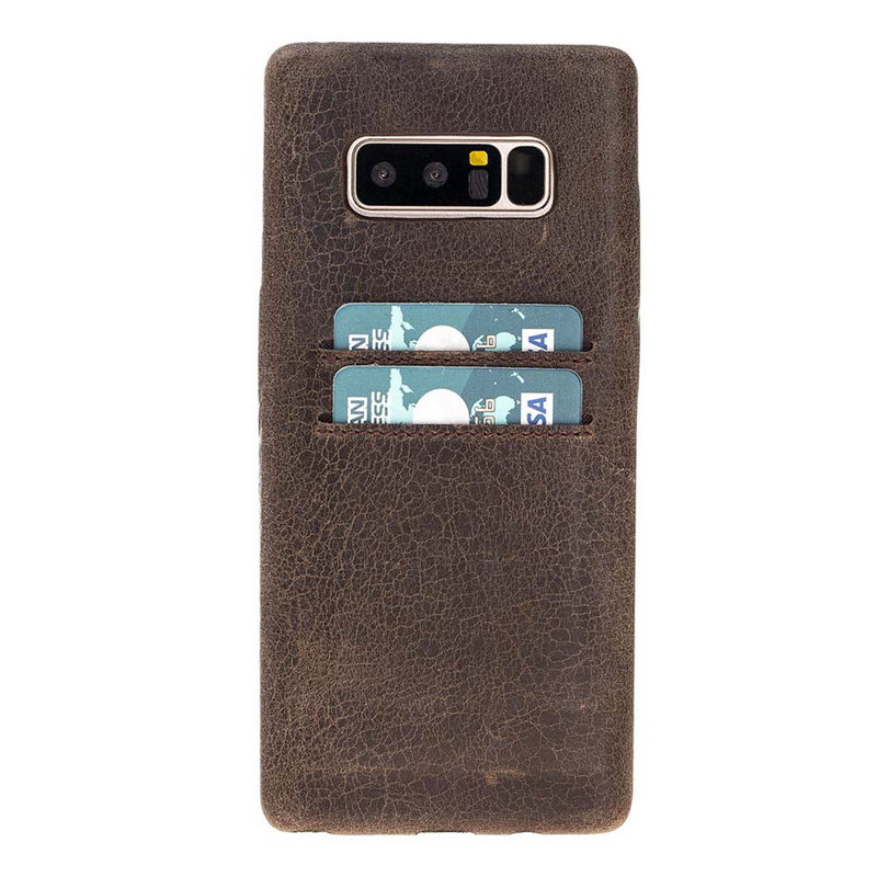Snap-on Full Cover Leather Case with Credit Card Slots for Samsung Note 48