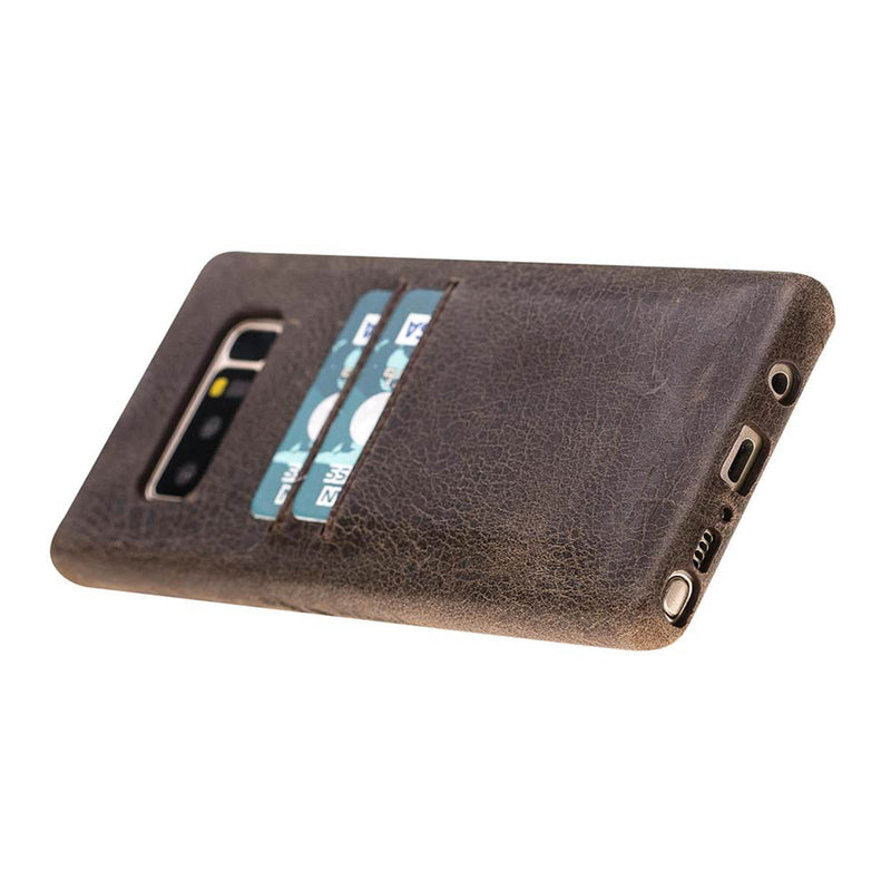 Snap-on Full Cover Leather Case with Credit Card Slots for Samsung Note 51