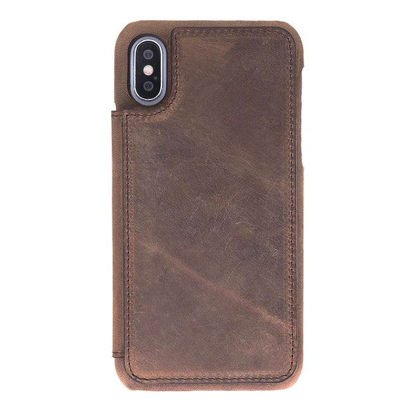 Snap On Leather Wallet Case for iPhone X / XS