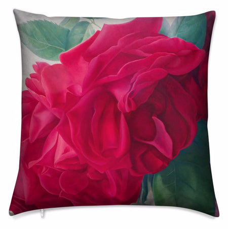 "This work of art crystallizes in an art cushion that features the vibrant ""Aphrodite Sleeping Beauty"" design by renowned Canadian artist/designer Carling Wong-Renger and is sure to transform your interior into a live-in art gallery."