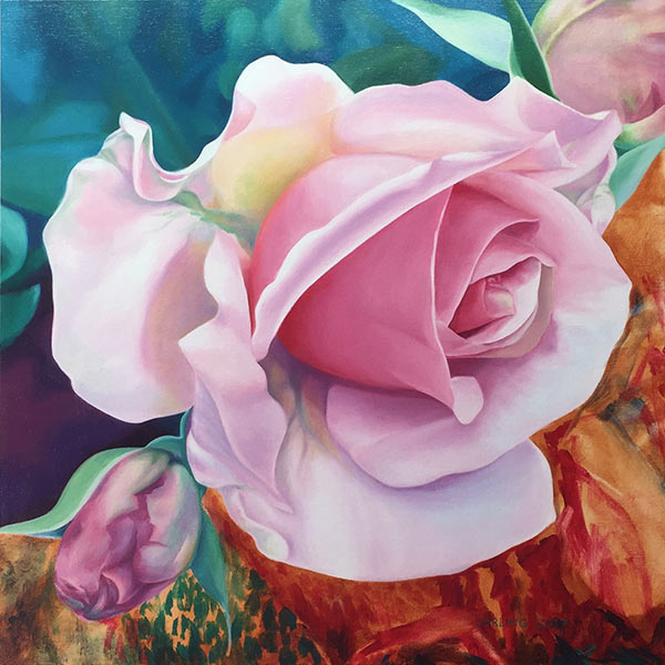 "This beautiful work of art crystallizes in a fine art print features the vibrant ""Chloris, O Daughter of Elysium"" a Greek mythology theme floral painting by renowned Canadian artist Carling Wong-Renger."