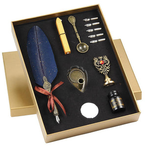 Baroque Calligraphy Quill Fountain Pen Set