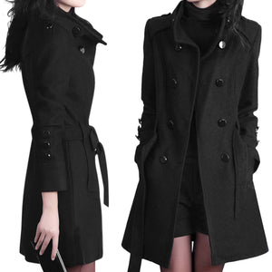 Classic Women's Long Trench Coat