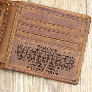 Engraved Custom Wallet Gift for Husband
