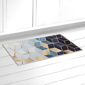 Geometric Print Kitchen Rugs