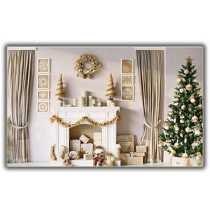 Classic Christmas Scenery Photography Backdrop