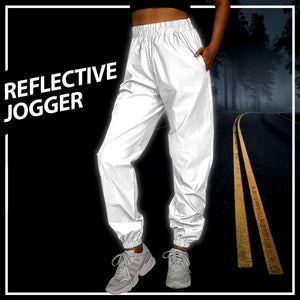 Women's Reflective Baggy Joggers