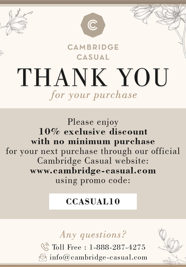 Cambridge Casual Patio Furniture Voucher Code