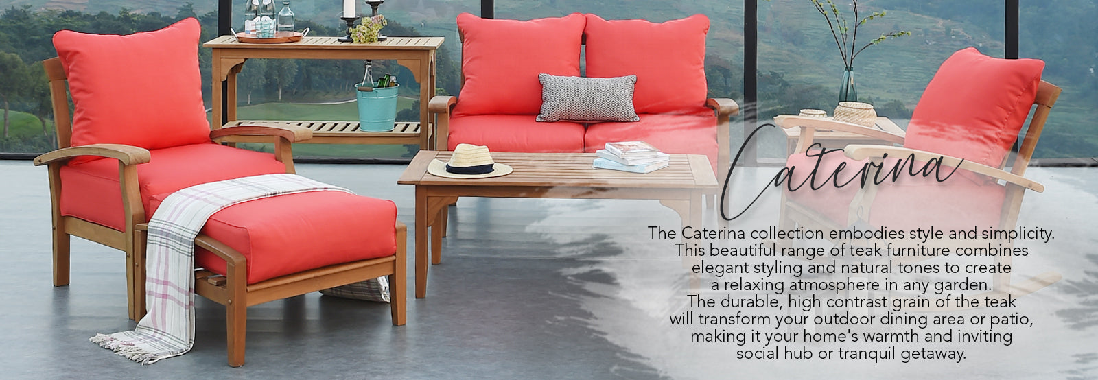 Discover our beautiful Caterina collection from Cambridge Casual - an elegant set of furniture made from natural and durable teak. Shop the range, here.
