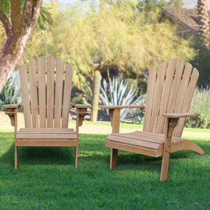 Purchase this fine Richmond teak Adirondack chair with Cup Holder today from Cambridge Casual. This elegant patio furniture will complete your garden seating arrangement. Richmond Teak Adirondack Chair with Cup Holder