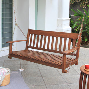 You'll love this Moni Solid Wood Porch Swing from Cambridge Casual. Available in new color: Natural Brown. Enjoy the free shipping deal!
