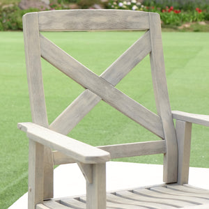 This Carlota rocking chair is the perfect addition to your front porch or backyard. It will add up style and comfort to your life. Purchase it from Cambridge Casual today.