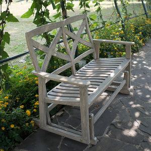 This Carlota Solid Wood Outdoor Glider Bench with Brick Cushion will deliver to you extra comfortable glider with rustic style. Grab one from Cambridge Casual today.