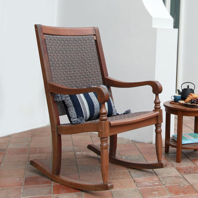 Browse the new Collection from Cambridge Casual: Bonn Solid Wood Outdoor Wicker Rocking Chair to inspire your outdoor space. Free Shipping!