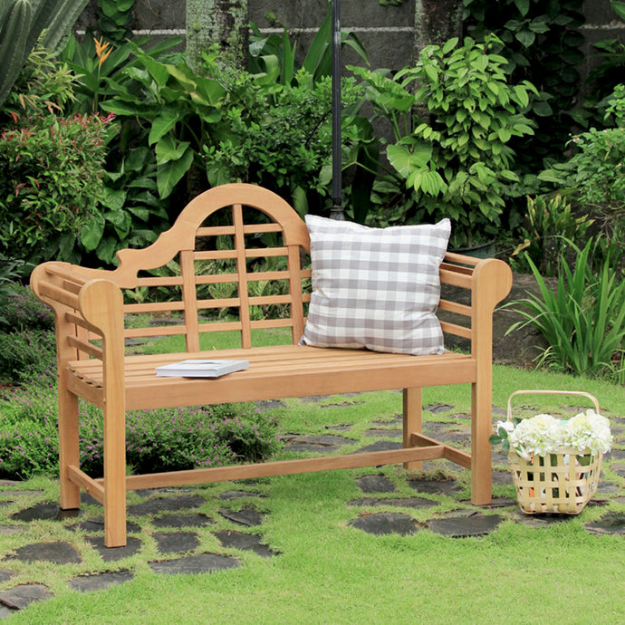 This comfortable Lutyens Solid Teak Wood 4 Feet Outdoor Bench is ideal for creating a relaxing spot in the garden. Buy now & explore patio furniture from Cambridge Casual.
