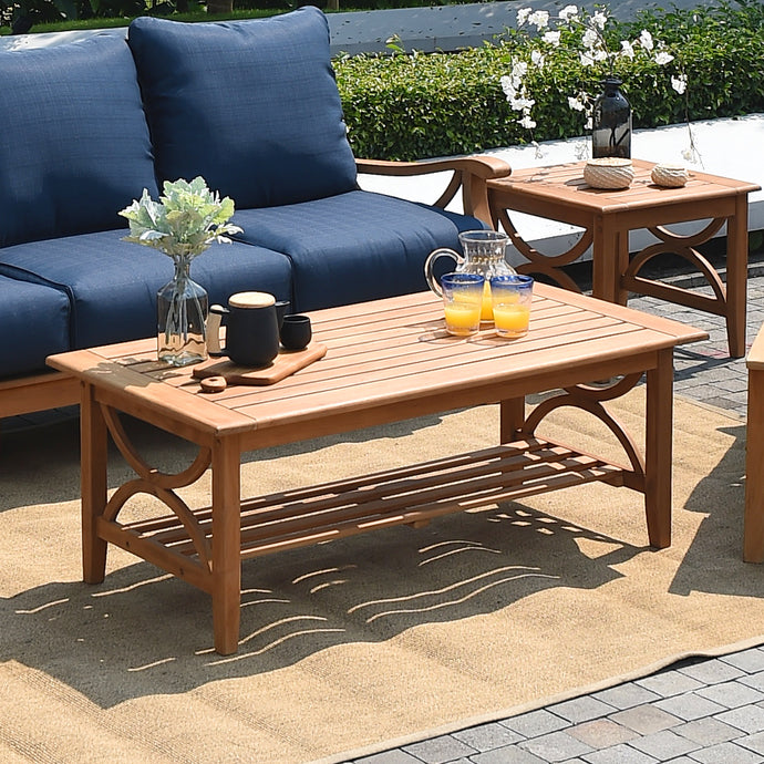 Explore the Abbington range, available today at Cambridge Casual. It includes this excellent teak coffee table, which works well with any outdoor furniture